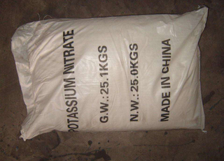 Potassium nitrate for agriculture
