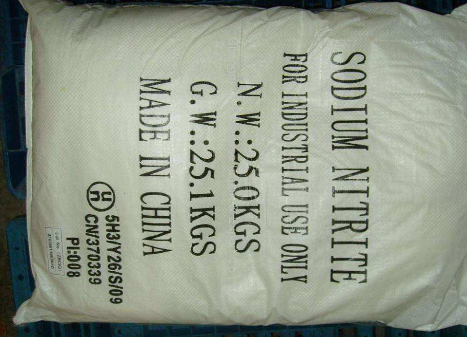 Sodium Nitrite used for Bleaching agent